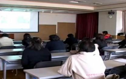 1月20日にNPO愛伝舎が鈴鹿市で開催した介護職についての説明会