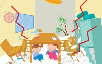 「防災講座」ビデオ ・「地震が起こった時の対応について ・ 建物の中にいる場合 」