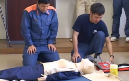 2011 年5月15日 NPO伊賀伝丸による「普通救命講習会」が伊賀市で開催されました
