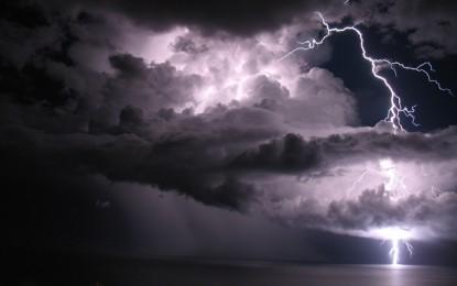 2011年5月9日  注意:落雷、竜巻の恐れがあります。