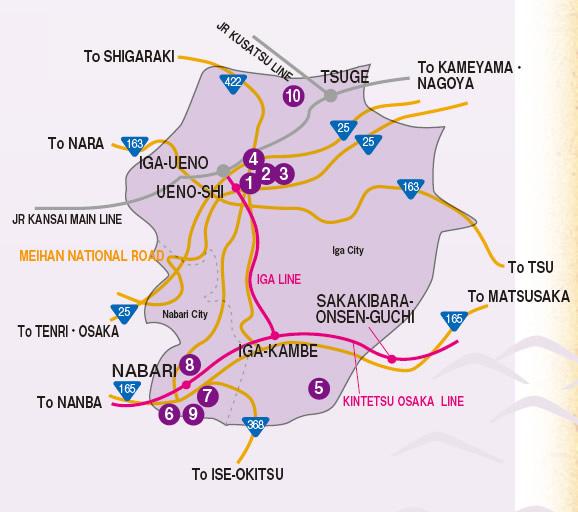 mapa - regiao Iga de mie
