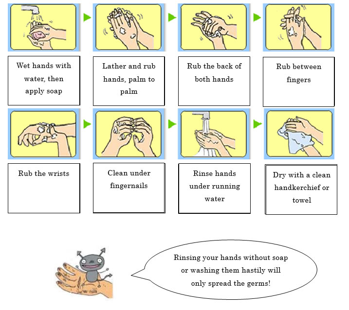Mie info mie information resource for foreign residents effective hand washing to prevent food - Foods never wash cooking ...