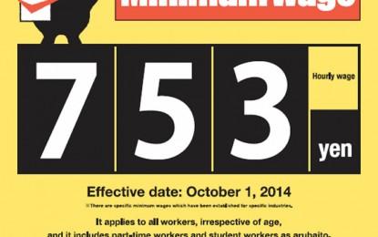 三重県最低賃金(平成26年10月1日発効)
