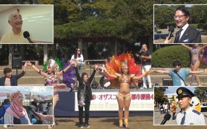このイベントでは多文化共生社会づくりがテーマであり、多国籍の外国人住民が集合しました。