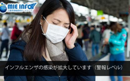 インフルエンザの感染が拡大しています(警報レベル)