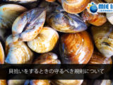 Regarding the rules to observe when gathering shellfish