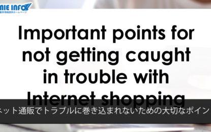ネット通販でトラブルに巻き込まれないための大切なポイント