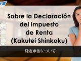 Sobre la Declaración del Impuesto de Renta (Kakutei Shinkoku)
