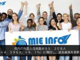 Número de residentes estrangeiros em Mie chega a 55.208; maior número já registrado